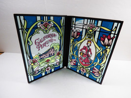 VTG 1976  Avon California Perfume Co Stained Glass folding Display - $25.25