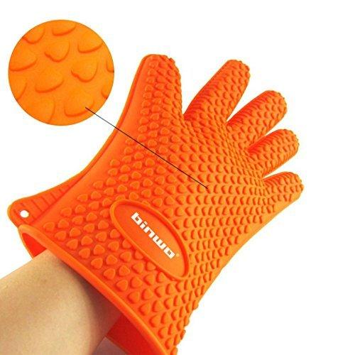 BINWO BBQ Grill Gloves, Best Versatile Heat Resistant Oven Gloves, Cooking Kitch