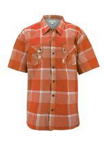 Men's Short Sleeve Cowboy Button Down Casual Plaid Pattern Western Dress Shirt image 12