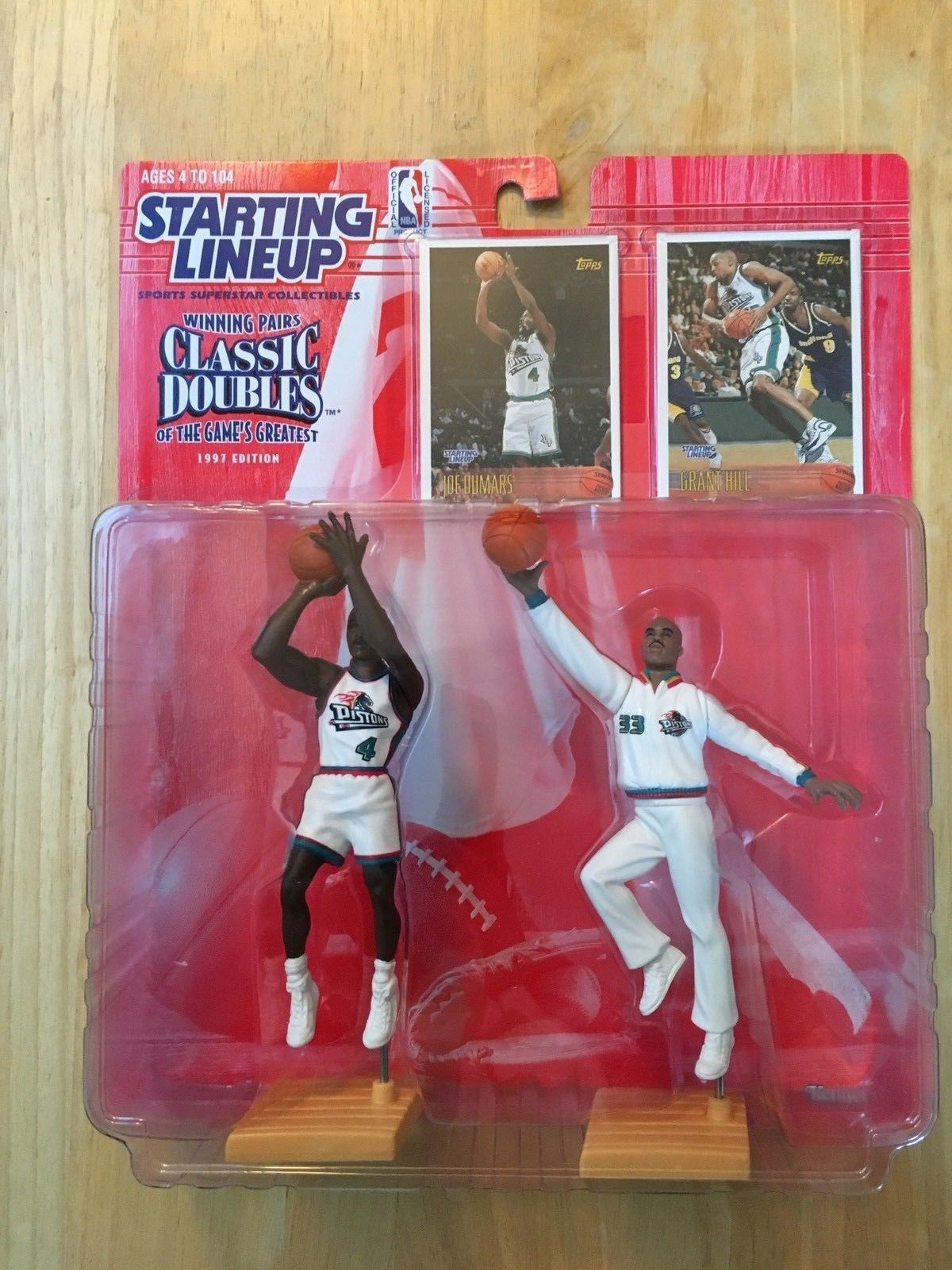 Starting Lineup 1997 Joe Dumars Grant Hill Detroit Pistons NBA Classic Doubles
