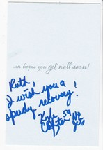 KYLE CLIFTON AUTOGRAPHED HAND WRITTEN GET WELL CARD NEW YORK JETS NFL  - £3.62 GBP