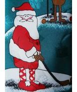 Hallmark Special Ties Santa Golfing Christmas Mens Necktie Novelty Green - $3.50
