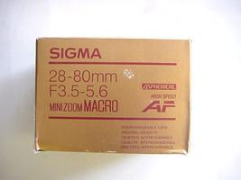 Sigma 28-80mm f3.5-5.6 Mini Zoom Macro for Minolta AF - $53.99