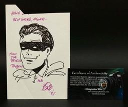 "Bob Kane Signed Autographed ""Robin"" Original Art on Index Card - COA Holograms - $299.99"