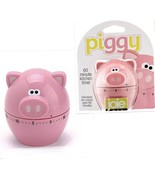 Pink Piggy Kitchen Timer 60 Minute Count Down by Joie Cooking Gadget Ute... - $9.89