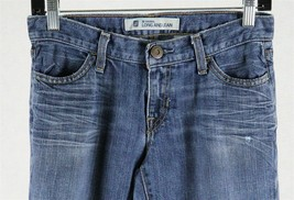 Gap Womens Original Long & Lean Denim Distressed Jeans Sz 0 Reg Measures 28 x 31 - $15.83