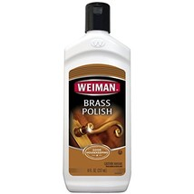 Weiman Brass and Copper Polish and Cleaner - 8 Ounce - Gently Clean and Remove T