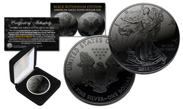 2018 BLACK RUTHENIUM 1 Troy Oz 999 Silver American Eagle Coin with Delux... - $43.90