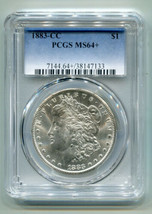 1883-CC MORGAN SILVER DOLLAR PCGS MS64+ NICE ORIGINAL COIN PREMIUM QUALI... - $315.00