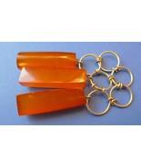 j78 Vintage Jewelry Pressed Orange Baltic Amber gemstone Pendant pendent... - $40.00