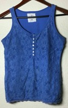 H&M L.O.G.G. WOMENS M BABY BLUE SLEEVE LESS TANK TOP BLOUSE, FREE SHIPPING - $8.98