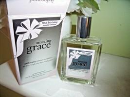 NEW Philosophy AMAZING GRACE Spray 2 Oz Eau De Toilette 20th BIRTHDAY Ed... - $24.95