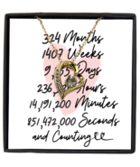 27th Anniversary Message Card Necklace, 27 Year and Counting Anniversary  - £21.78 GBP