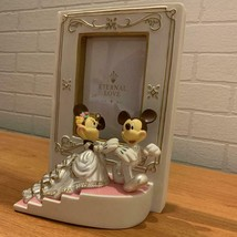 Disney Mickey & Minnie Mouse Figure Wedding Photo Frame Bridal Photo Stand  - $58.41