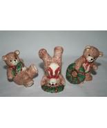 Fitz & Floyd Toy Wreath Teddy Bear Tumblers Set of 3  #2223 - $34.00