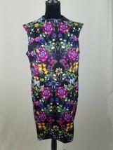 Asos women 14 scuba sleeveless sheath dress floral - $37.62