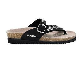 Sandales plates MEPHISTO HELEN SP B en nabuk noir - Chaussures Femme - $97.92