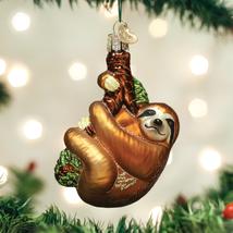 OLD WORLD CHRISTMAS SLOTH TREE-HUGGER ANIMAL GLASS CHRISTMAS ORNAMENT 12523 - $12.88