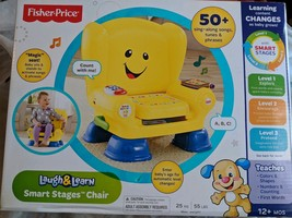 Fisher-Price Laugh Learn Smart Stages Yellow Chair Interactive Educational - $69.95