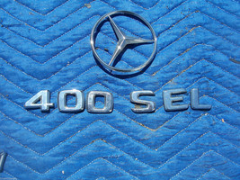 1993 400 SEL TRUNK TRIM ORNAMENT EMBLEM OEM USED ORIG MERCEDES BENZ - $74.89