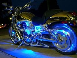 "OCTANE LIGHTING 4Pc 12"" Motorcycle Blue Under Glow Frame Engine Motor Light Bulb - $19.75"