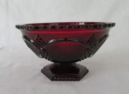 Avon, Footed Bowl, Ruby Cape Cod 1876, circa 1975-92 - $14.00