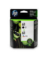 Genuine HP 61 Black & Color Ink Cartridge Combo Exp Date 2021 CH561WN CH... - $38.94