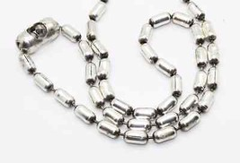 Vintage Sterling Silver Oval Bead Ball Link Chain Links Necklace-Estate ... - $46.60
