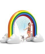 Inflatable Rainbow Sprinkler Toys,Large Summer Sprinkler Splash Toy Outd... - $78.12