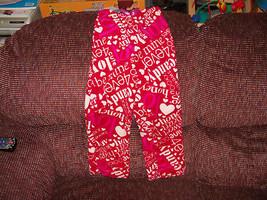 Sleepwear Love, Honey, Hugs & Kisses PJ Pants Size L 10/12  Girl's New - $15.13