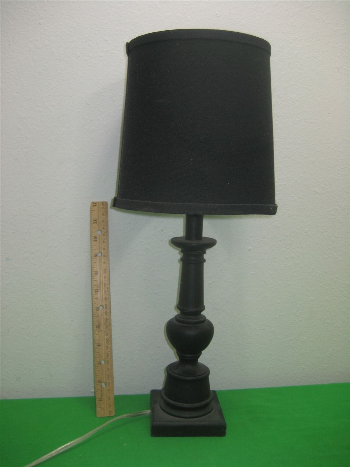 Portable Electric Lights : Vintage black portable table lamp electric with shade