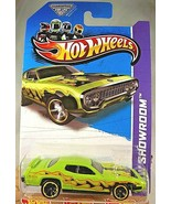 2013 Hot Wheels #215 Showroom-Heat Fleet '71 PLYMOUTH ROAD RUNNER Green ... - $8.30
