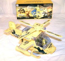 BUMP AND GO LIGHT UP FLASHING MILITARY HELICOPTER battery operated toy C... - $11.72