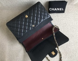 AUTHENTIC CHANEL BLACK QUILTED CAVIAR MAXI CLASSIC DOUBLE FLAP BAG GHW image 9