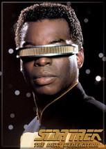 Star Trek: The Next Generation Geordi LaForge Portrait Magnet NEW UNUSED - $3.99