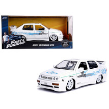 Jesses Volkswagen Jetta White Fast & Furious Movie 1/24 Diecast Model Ca... - $34.43