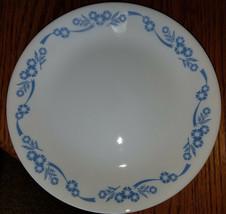 "4 Corelle Cornflower Blue 8 1/2"" Luncheon Plates Retro Corning - $25.24"