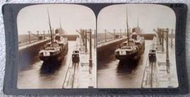 Keystone Stereoview S340 SS Panama ship near mint condition early 1900's - $4.99