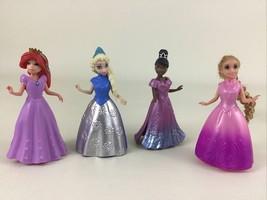 Disney Princess Little Kingdom MagiClip Dolls 4pc Lot Ariel Tiana Elsa A... - $20.45