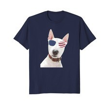 Bull Terrier Wearing Sunglasses 4th Of July Dog T-Shirt - $17.99+