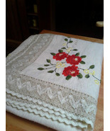 Gorgeous Old Antique Vintage Embroidered & Croc... - $74.25