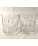 Crown Royal Bar Drinking Glasses Set of 2 Clear Signature Logo  - $22.76