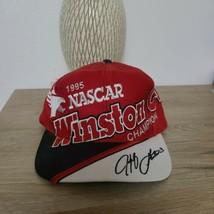 Vintage 90s 1995 Winston Cup Champion Jeff Gornon Snapback Hat - $17.82