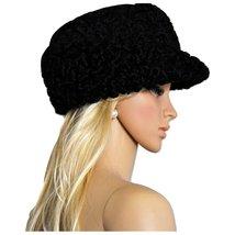 Astrakhan Karakul Lamb Wool Headgear Bespoke Hand Crafted Fedora Hat Cap - $290.00