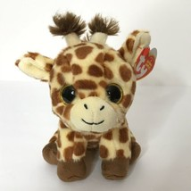 TY Velvety Original Beanie Babies Peaches Giraffe Plush Gold Glitter Eye... - $19.80