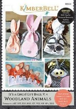 Kimberbell  KD554 It's a Cinch Gift Bags Volume 4 Woodland Animals Embro... - $39.55