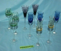 10 Piece Assorted Lenox Liquor Cordial Glasses Glassware Drinkware Gems ... - $89.09