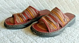 Born Drilles Sandals Women Shoes Slip On Striped Leather Size 9 - $23.36