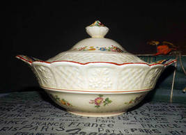 Antique (1900s) Coalport Kings Ware E158 hand-painted covered tureen | b... - $179.99