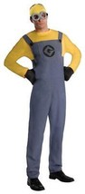 Despicable Me 2 Costume Adult Dave Minion Jumpsuit Halloween Party RU887201 - $54.99
